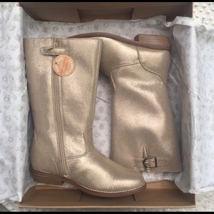 Hanna Andersson Karrine  Soft Gold Boots Size 3